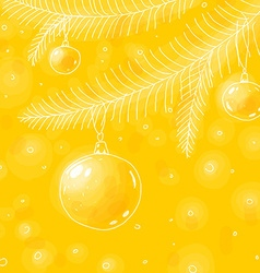 Yellow christmas background sketch vector