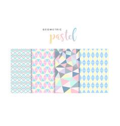 0007 geometric pastel pattern vector image