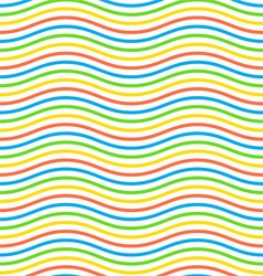 geometric pattern by waves vector image