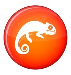 Chameleon icon flat style vector