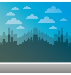 Cityscape pixelated isolated icon vector