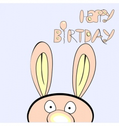 Happy birthday with rabbit vector