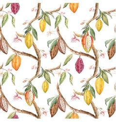 watercolor cocoa pattern vector image