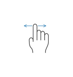 Finger drag line icon touch and hand gestures vector