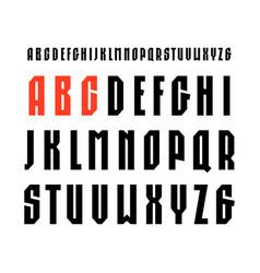 Narrow sanserif font in sport style vector