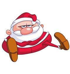 upset santa vector image