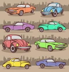 Cartoon car set vector