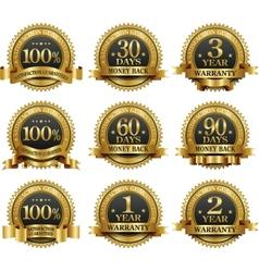set best guarantee golden labels vector image