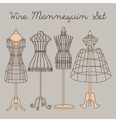 Wire mannequin set vector