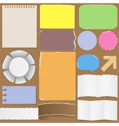 Old paper objects vector