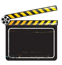 Movie clapper board vector