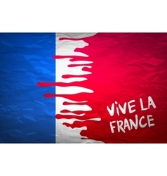 Flag france in concept the blood flowing on the vector