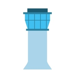 Airport tower isolated icon design vector