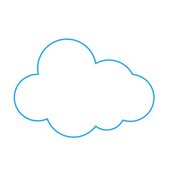 color line natural cloud in sky to weather design vector image
