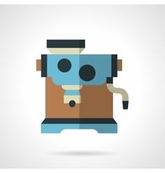 Colored coffee maker flat design icon vector image