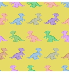 Colored dinosaurs seamless background vector