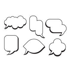 Comic text speech bubble set dialog empty box vector