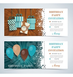 Complimentary ticket to a party on birthday vector image vector image