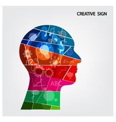 Creative silhouette head background design vector image vector image