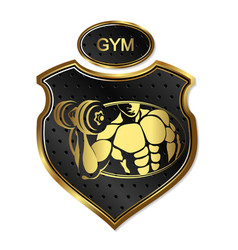 design for the gym and bodybuilding vector image vector image