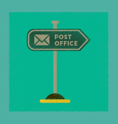 flat shading style icon sign post office vector image vector image