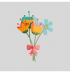 flower isolated design vector image