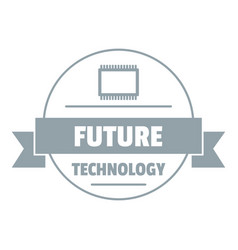 future technology logo simple gray style vector image