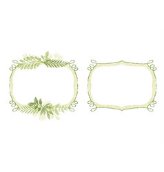 greenery hand drawn branch border for cards vector image vector image