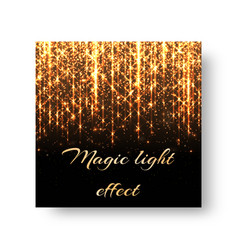 Greeting card with golden light vector