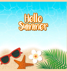 hello summer holiday background season vacation vector image vector image