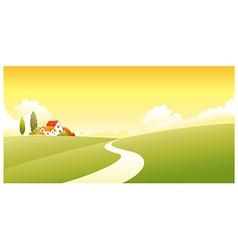 House Green landscape vector image