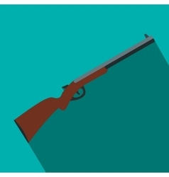 Hunting shotgun flat icon vector