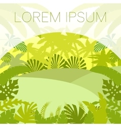 Jungle Flat Background6 vector image