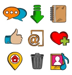 Multimedia web icons and symbols vector image vector image