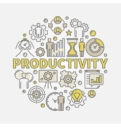 Productivity round colorful vector