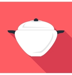 Round pan icon flat style vector image