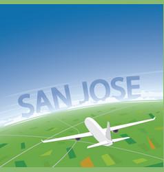 San jose flight destination vector