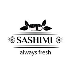 Sashimi logo vector image