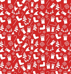 Seamless vintage christmas pattern vector