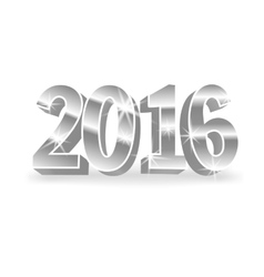 silver 2016 numbers vector image vector image