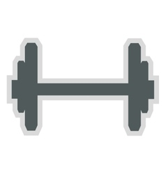 Single barbell icon vector