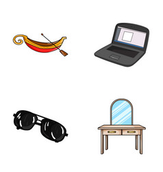 Travel crime and other web icon in cartoon style vector