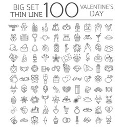 valentines day icon set romantic design elements vector image vector image