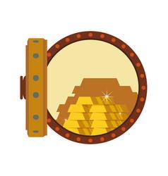 Vault safe deposit bank gold vector