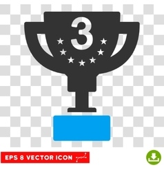 Third prize eps icon vector