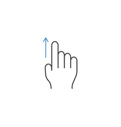 Swipe up finger line icon touch and hand gestures vector