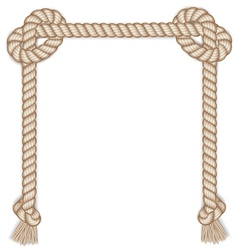 Frame made from rope isolated on white vector