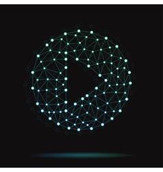 modern arrow icon vector image