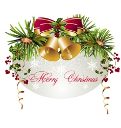 Christmas decorations background vector image
