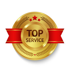 Top service badge vector